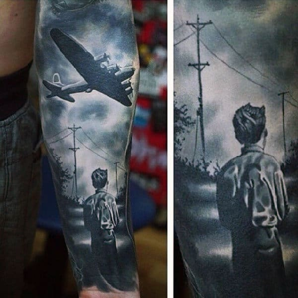 Realistic Military Tattoo Ideas For Men