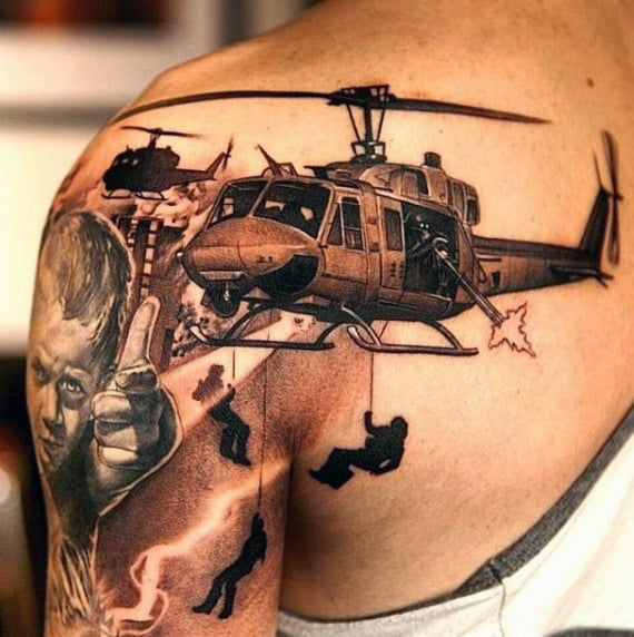 Military Tattoos For Men On Shoulder
