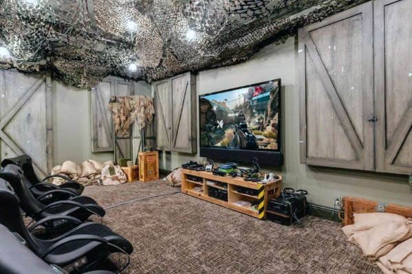 Military Themed Guys Gaming Man Cave