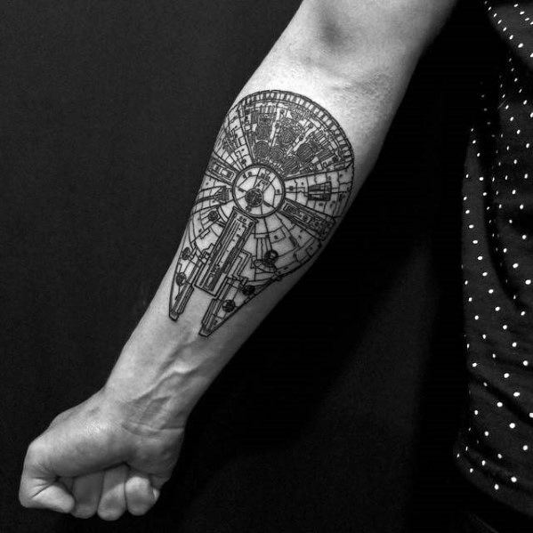 Millennium Falcon Guys Tattoo Designs