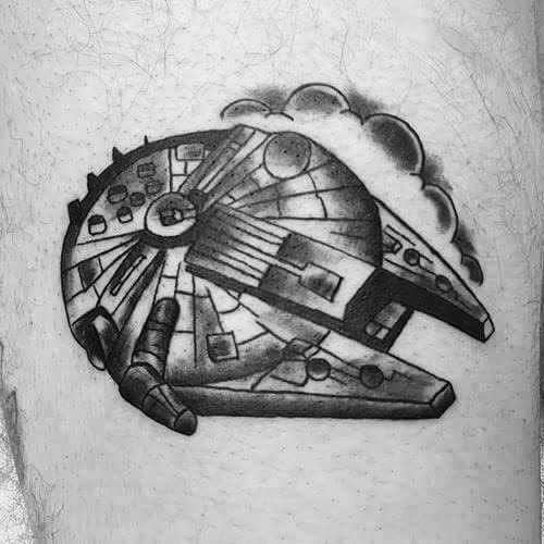 Millennium Falcon Guys Tattoos