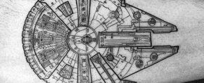 50 Millennium Falcon Tattoo Designs For Men – Star Wars Ideas