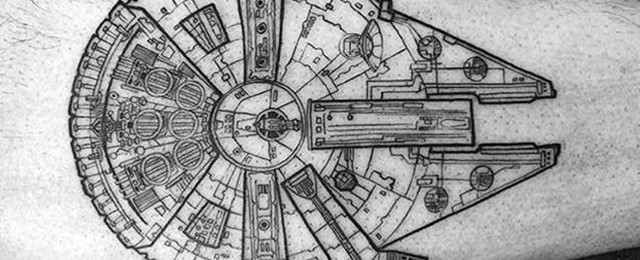 50 Millennium Falcon Tattoo Designs For Men Star Wars Ideas