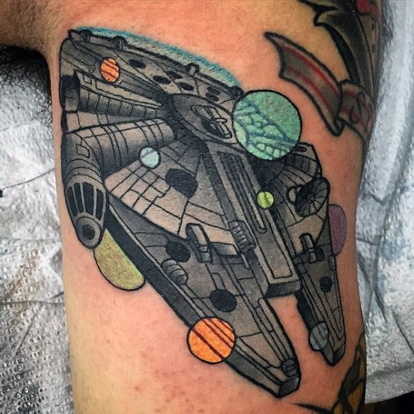 Millennium Falcon Tattoo Ideas On Guys