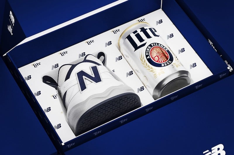 Miller Lite and New Balance Collab on The Shoezie