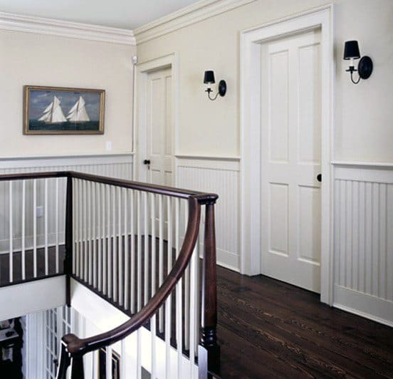 Millwork Trim Chair Rail Design Hallway