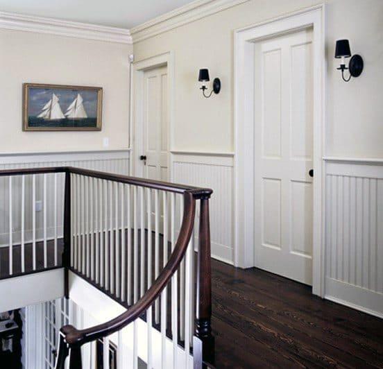 Millwork Trim Chair Rail Design Hallway