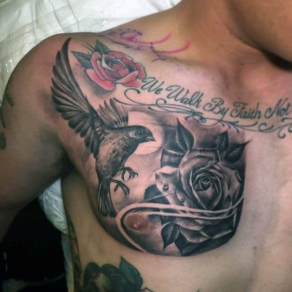 50 Chest Quote Tattoo Designs For Men: 75 Sparrow Tattoo Designs For Men