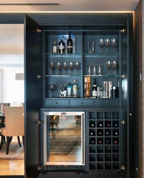 Creative Home Mini Bar Ideas: Top 70 Best Home Mini Bar Ideas