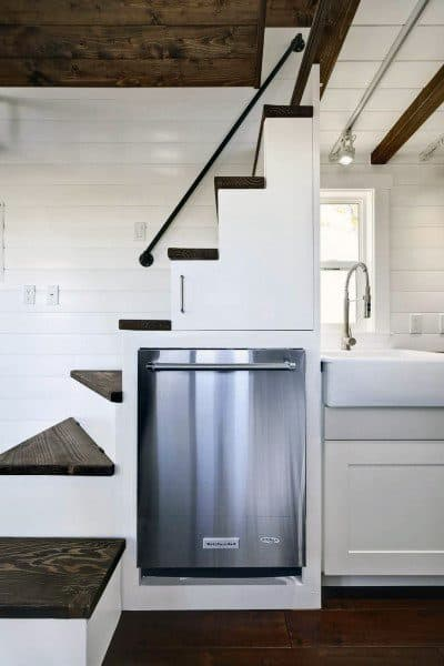 Mini Kitchen Built In Staircase Loft Ideas