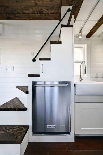 Mini Kitchen Built In Staircase Loft Ideas