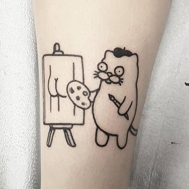 Mini Mr Heggie Art Body Art Tattoo