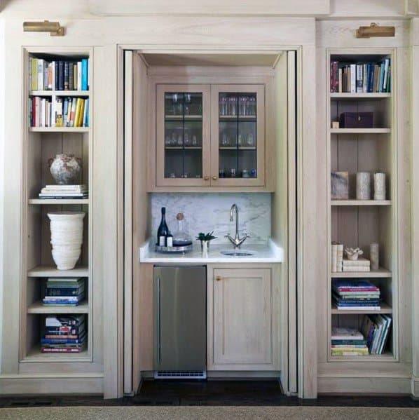 Mini Wet Bar Built In Bookcase Spectacular Ideas