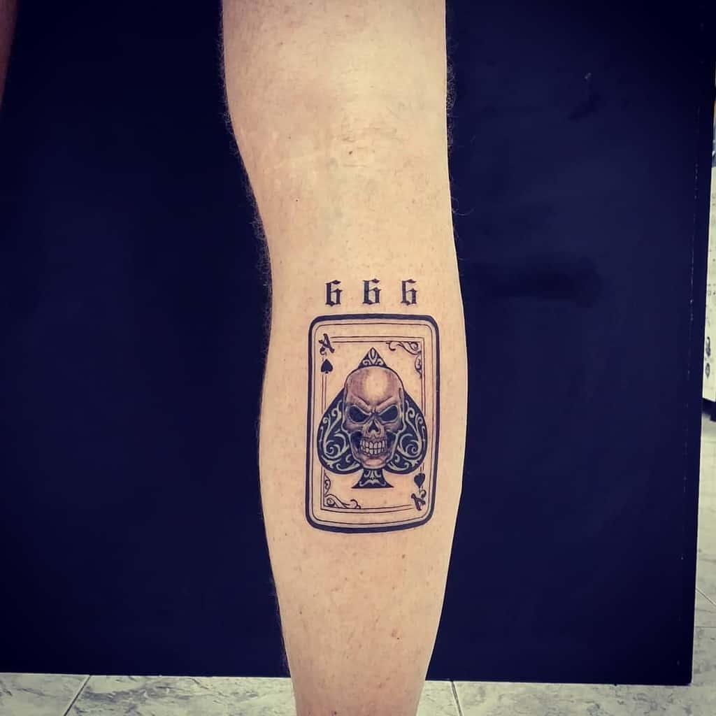 Minimalism Ace Of Spades Tattoo Javimetaltattoo