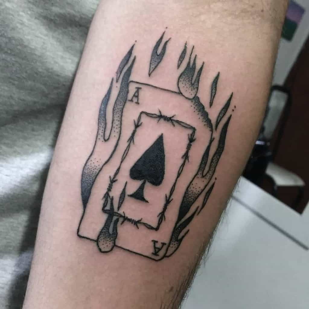 Minimalism Ace Of Spades Tattoo Naotoyuri