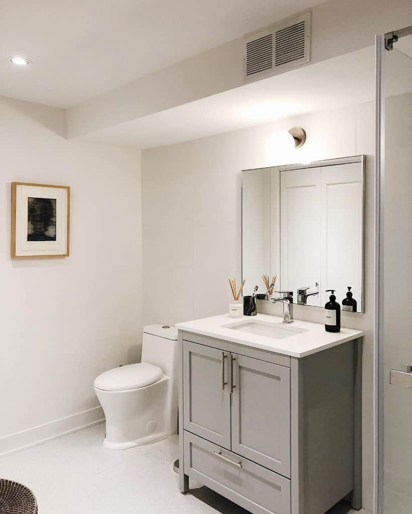 Minimalist Basement Bathroom Labrancolidesign