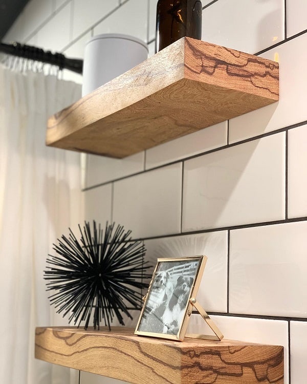 Minimalist Bathroom Floating Shelf Meganlouiseallen