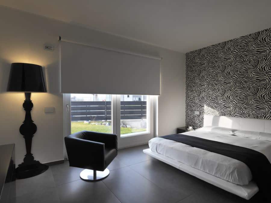 minimalist black and white bedroom ideas 1