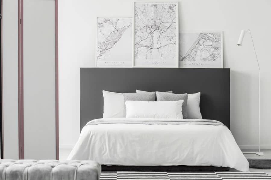 minimalist black and white bedroom ideas 2