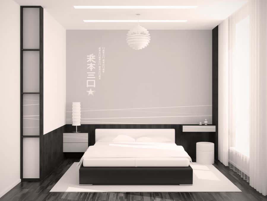 minimalist black and white bedroom ideas 3