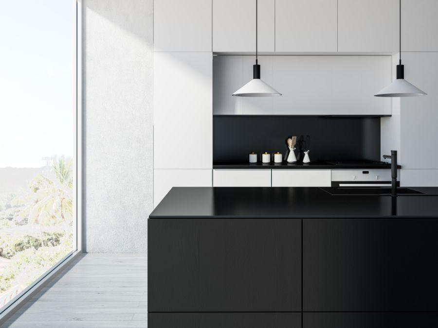 Minimalist Black And White Kitchen 1