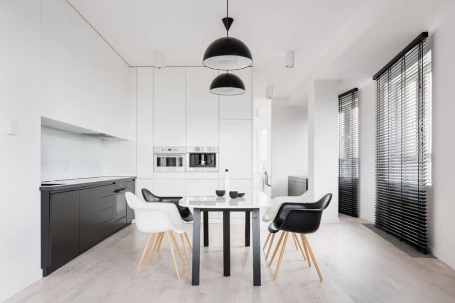 Minimalist Black And White Kitchen 2