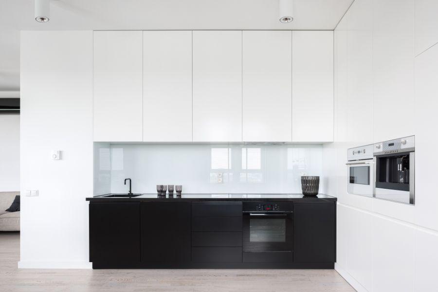 Minimalist Black And White Kitchen 3