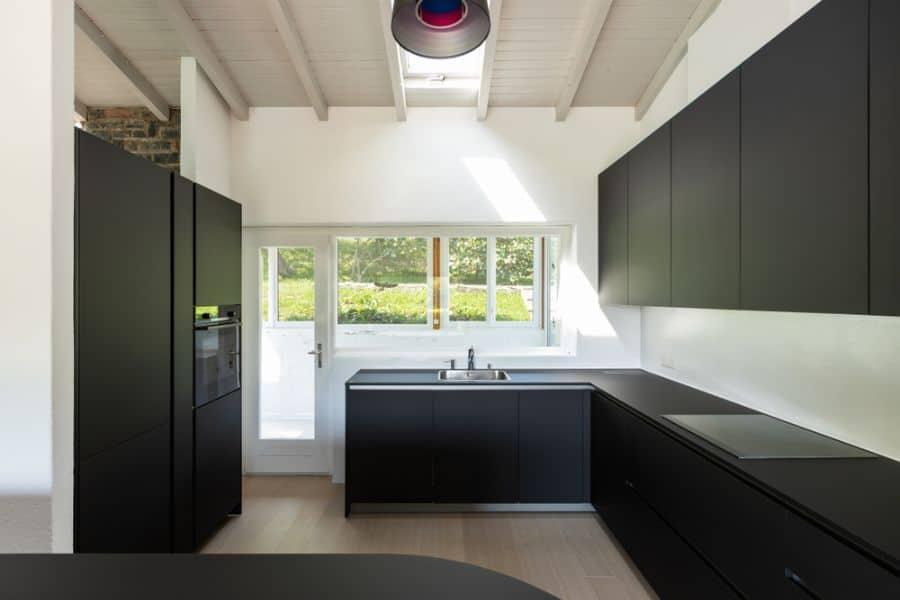 Minimalist Black And White Kitchen 5