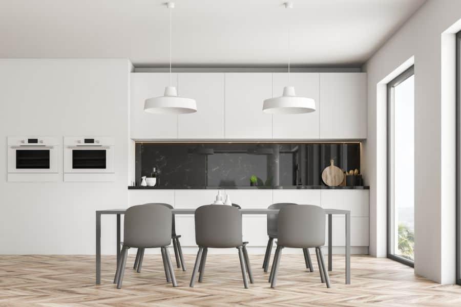 Minimalist Black And White Kitchen 6
