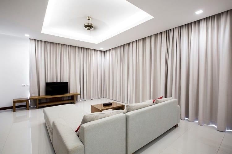 Minimalist Comfortable Living Room Cove Lighting Ceiling Ideas