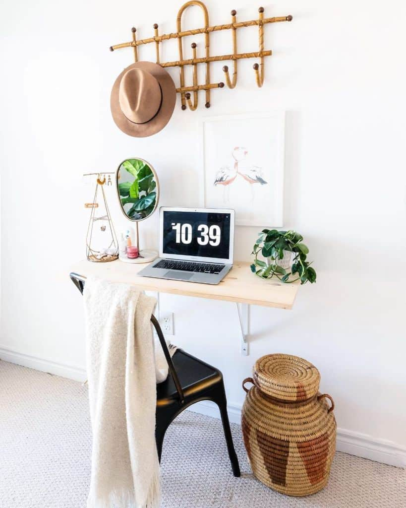 minimalist home office desk ideas lavender_julep