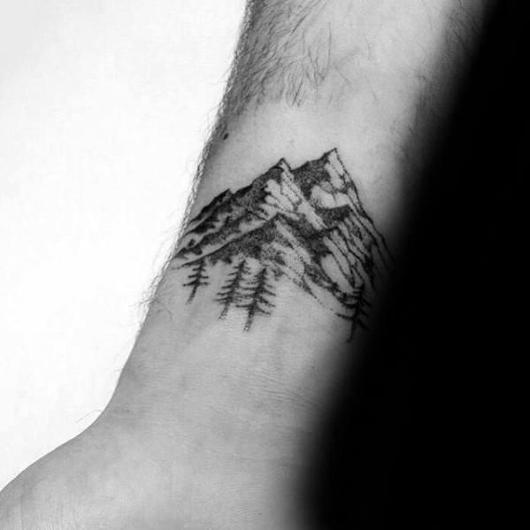 Minimalist Mountain Guys Tattoo Designs