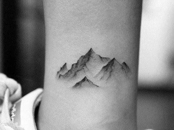 Minimalist Mountain Tattoo Designs On Men