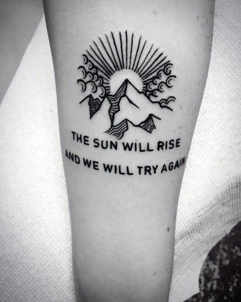 Minimalist Mountain Tattoo Ideas For Men