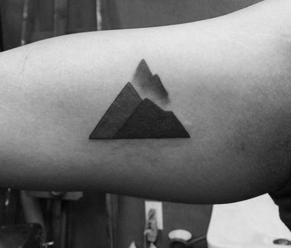 Minimalist Mountain Tattoos For Gentlemen