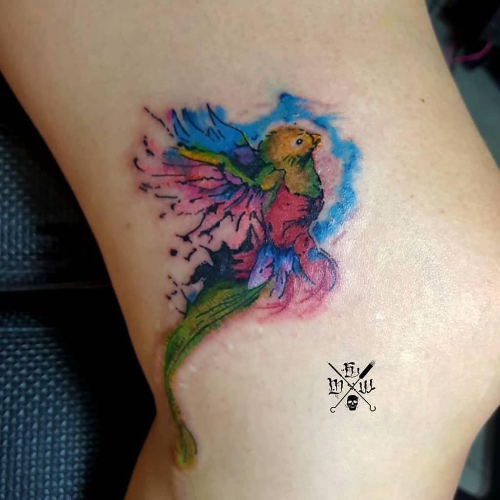 Minimalist Quetzal Tattoos Mewmiranda