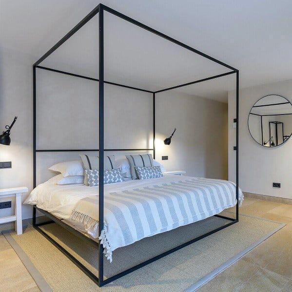 Minimalistic Black Lamps On Wall Bedroom Lighting Ideas