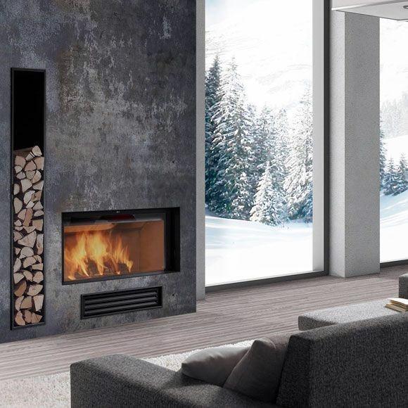 Minimalistic Concrete Fireplace Design