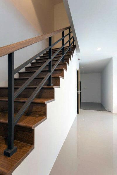 Minimalistic Nice Wood Stairs Interior Ideas