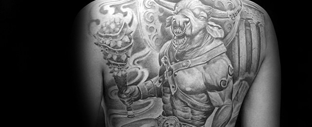 Minotaur Tattoo Designs For Men