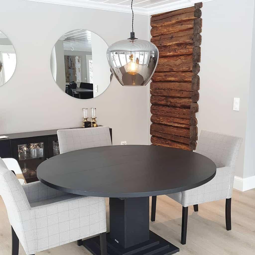 mirror dining room wall decor ideas husetpaavillumstad