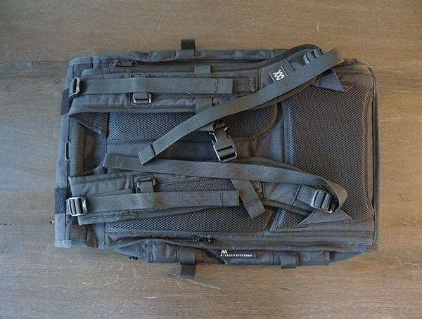 Mission Workshop The Rhake Backpack Rear With Two Arkiv Rails