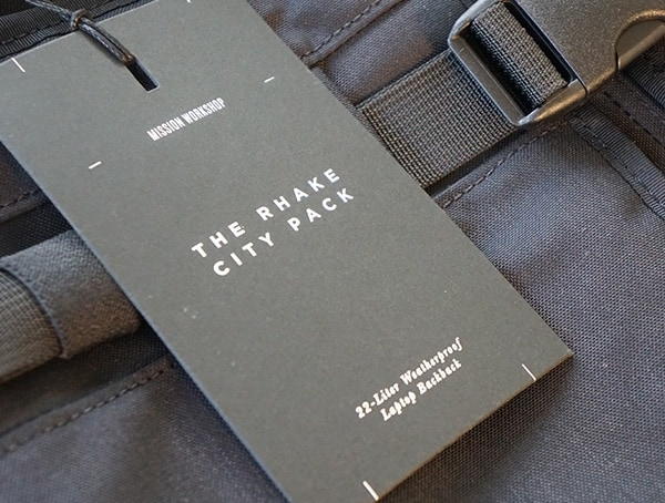 Mission Workshop The Rhake Backpack Tag