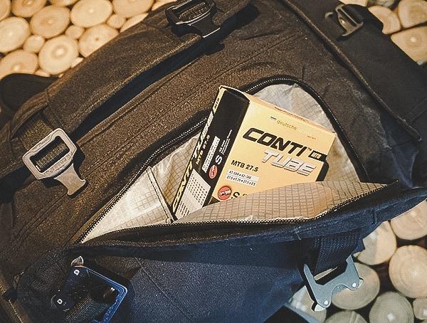 Mission Workshop The Rhake Laptop Backpack Bicycle Tube Storage Pocket
