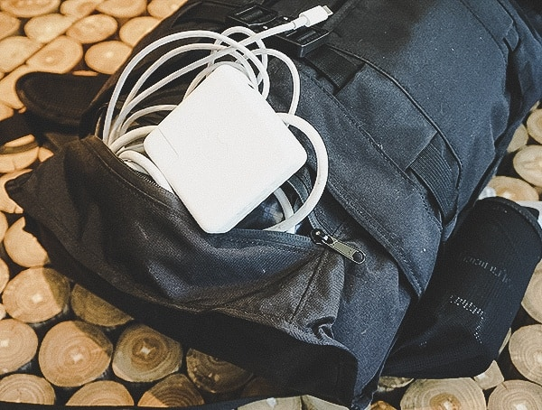 Mission Workshop The Rhake Laptop Backpack Bottom Compartment For Chargers And Cables