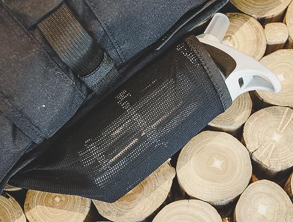 Mission Workshop The Rhake Laptop Backpack Expandable Mesh Water Bottle Holder