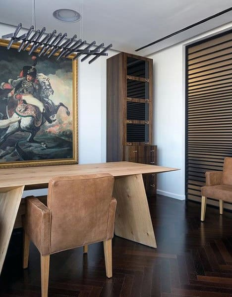Mixed Design Retro Small Home Office Ideas