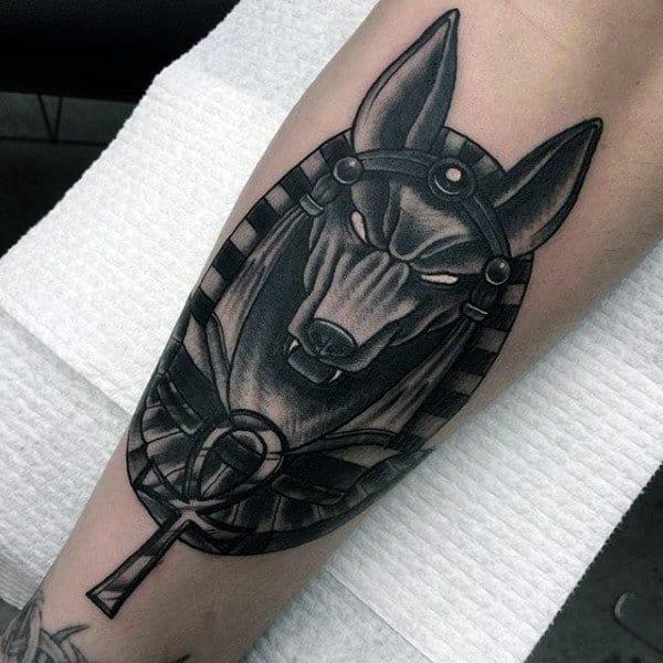 Modern Ankh Leg Tattoos For Gentlemen