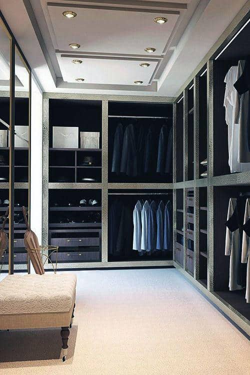 Modern Bachelor Pad Closet Designs For Guys