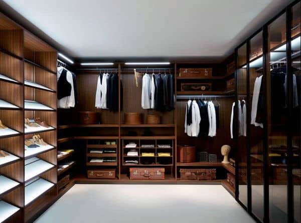 Modern Bachelor Pad Closet For Guys